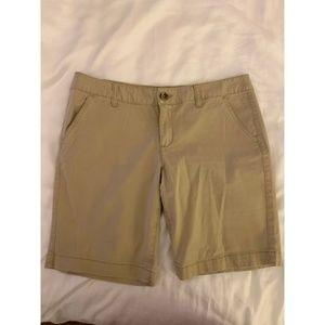 Slim Fit Khaki Bermuda Chino Shorts